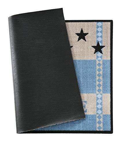 andiamo 700682 Schmutzfangmatte Metropolitan 39 x 58 cm Polyamid Waschbar bei 30 grad Handwäsche, blau - 4