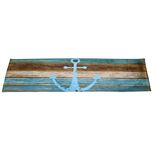 WINOMO 40x60cm Rutschfeste Fußmatte Teppich für Zuhause Maritim Fußmatte Küche Eingang Boden Vorleger - 3