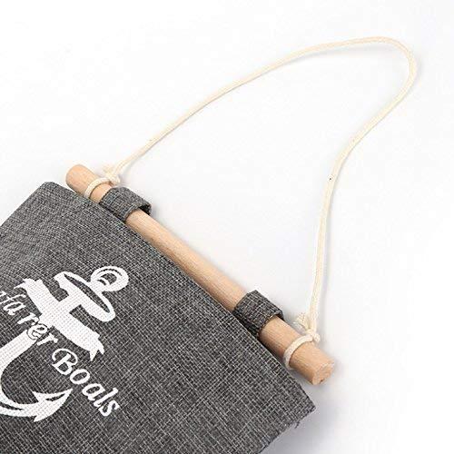 Milopon Wand Hängeorganizer Wandtaschen Baumwolle Aufbewahrungstasche hängenden Hängeaufbewahrung Beutel Maritime Tür zurück Aufbewahrungstasche - 6