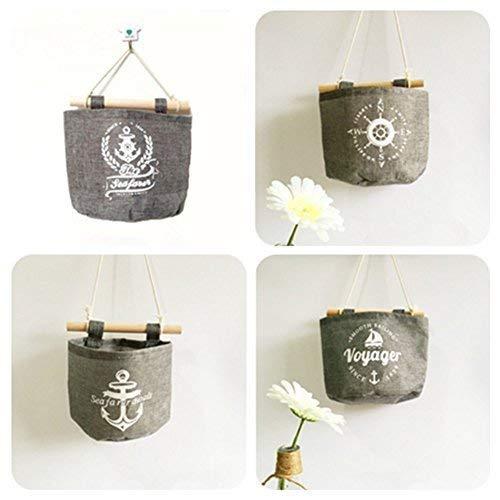 Milopon Wand Hängeorganizer Wandtaschen Baumwolle Aufbewahrungstasche hängenden Hängeaufbewahrung Beutel Maritime Tür zurück Aufbewahrungstasche - 7