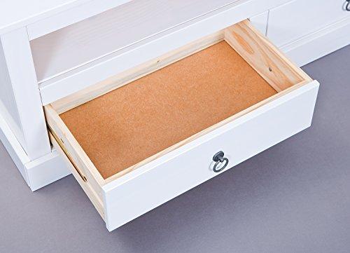Inter Link Maritim Style Move 20901530 TV Tisch weiß TV Board Hifi Regal Schrank Media Rack Center massiv Landhaus NEU - 13