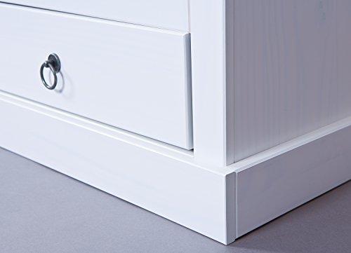 Inter Link Maritim Style Move 20901530 TV Tisch weiß TV Board Hifi Regal Schrank Media Rack Center massiv Landhaus NEU - 3
