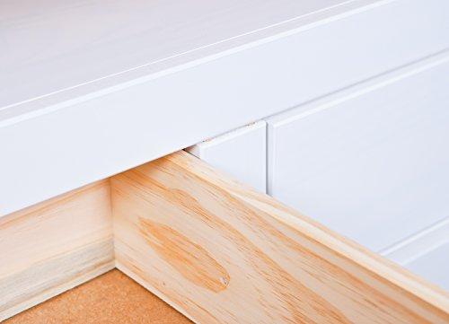 Inter Link Maritim Style Move 20901530 TV Tisch weiß TV Board Hifi Regal Schrank Media Rack Center massiv Landhaus NEU - 6