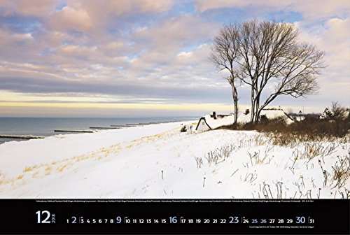 Meerblicke - Nord- und Ostsee 2018: Großer Foto-Wandkalender von der Küste und dem Meer in Deutschland. Edler schwarzer Hintergrund und Foliendeckblatt. PhotoArt Panorama Querformat: 58x39 cm. - 13