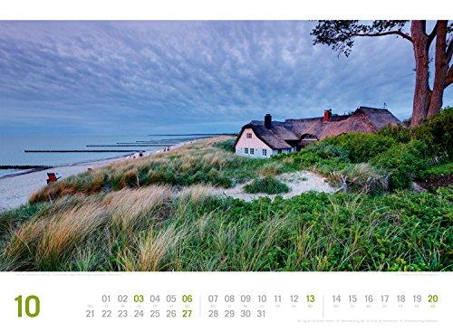 Ostsee ReiseLust 2019, Wandkalender im Querformat (45x33 cm) - Reisekalender Meer und Küste mit Monatskalendarium - 12