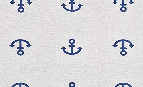 Bettwäsche 135x200 Anker 2tlg Baumwoll-Seersucker Maritim Bettgarnitur Lavida - 3