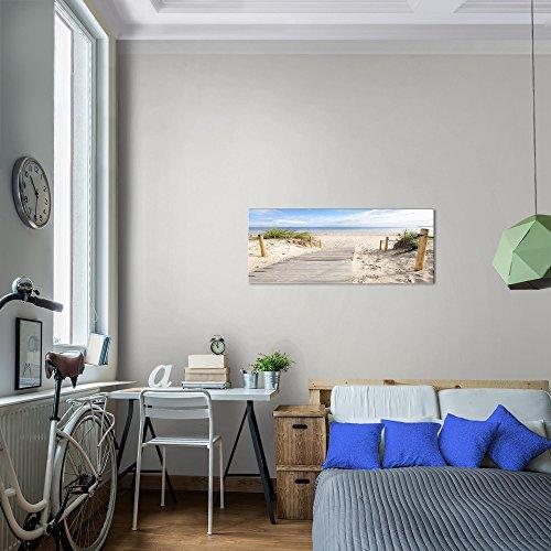 Bilder Strand Meer Wandbild Vlies - Leinwand Bild XXL Format Wandbilder Wohnzimmer Wohnung Deko Kunstdrucke Blau 1 Teilig - MADE IN GERMANY - Fertig zum Aufhängen 607312b - 8