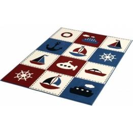 HANSE Home Teppich »Nautic Patchwork«, , rechteckig, Höhe 9 mm, blau-rot