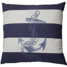 HOMING Kissenhülle »Anchor«, , blau-weiß
