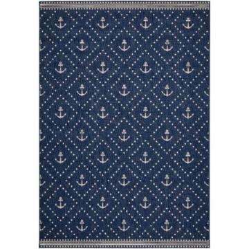 Teppich Anker in blau von bonprix