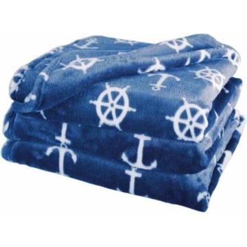 Wohndecke »Nautic«, Delindo Lifestyle, kuschelig weiche Coral Fleece Decke im maritimen Look